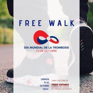 Afiche de la caminata por la prevención de la trombosis