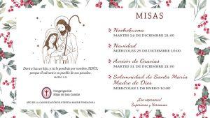 Afiche de las celebraciones navideñas y de año nuevo